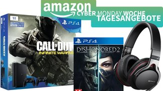 Amazon Cyber Monday Woche – PS4-Bundles mit CoD & Dishonored ab 299 Euro, Sony Audio-Produkte zum Bestpreis u.v.m