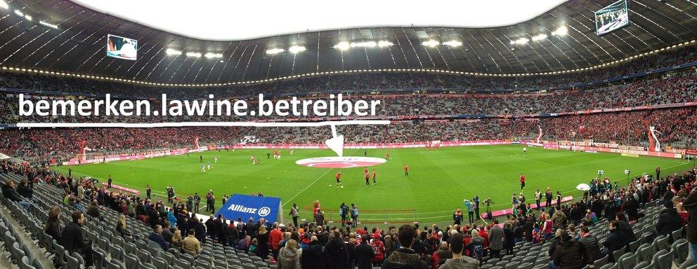 Der Anstosspunkt in der Allianz Arena in München (Quelle: pixabay)