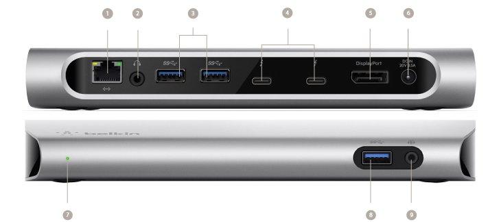 MacBook Pro 2016: Belkin kündigt Thunderbolt-3-Dock an