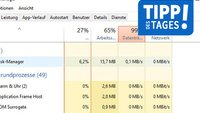 Windows 10: Datenträger-Auslastung bei 100 Prozent – was tun?
