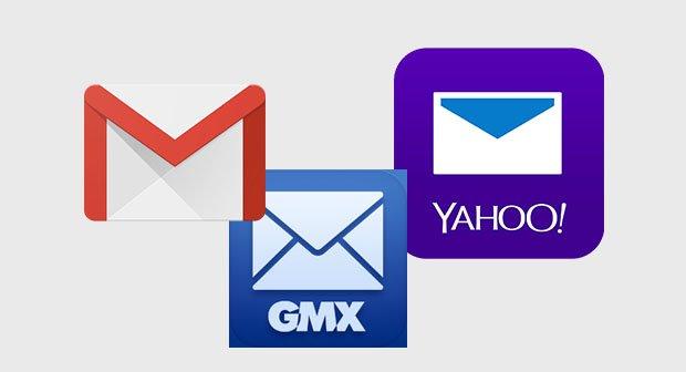 gmail gmx yahoo icons