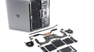 13-Zoll-MacBook-Pro mit Touch Bar: Lautsprecher-Gitter sind Attrappe, Gerät kaum reparierbar