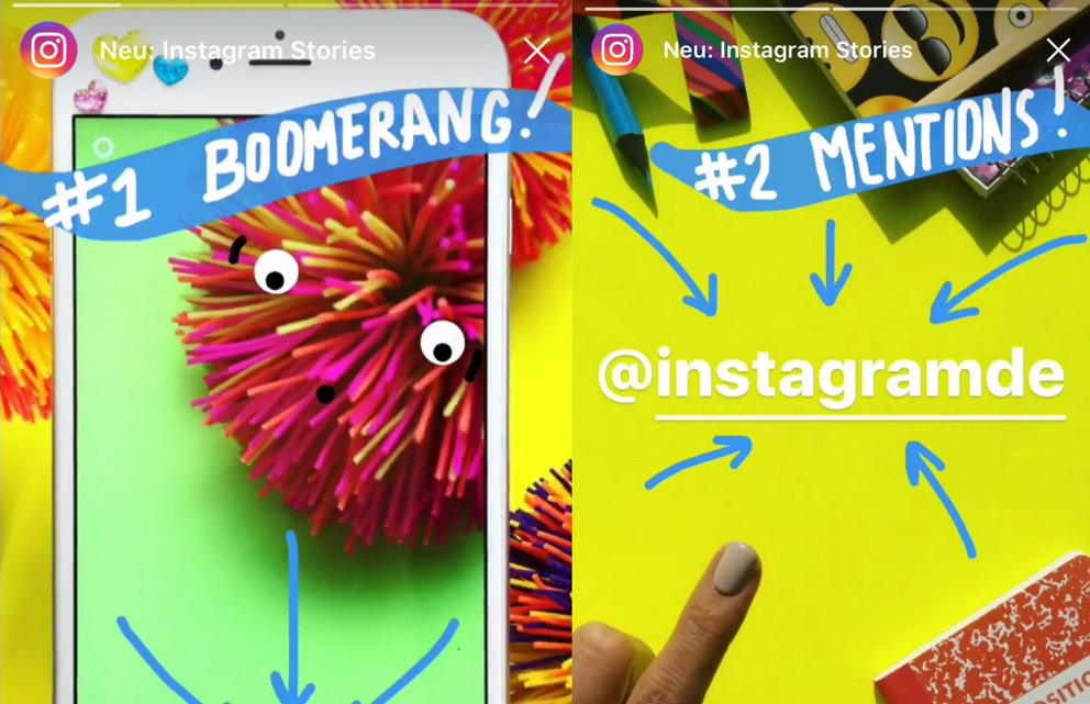 Instagram Stories: Jetzt mit Boomerang, Person markieren und See-More-Links