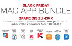 Black Friday Mac App Bundle: Parallels Desktop 12 kaufen + 7 Premium-Apps kostenlos erhalten