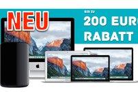 Bis zu 200 Euro Sofortrabatt für iMac, MacBook (Pro/Air) und Mac Pro