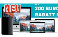Bis zu 200 € Sofortrabatt für iMac, MacBook (Pro/Air) und Mac Pro