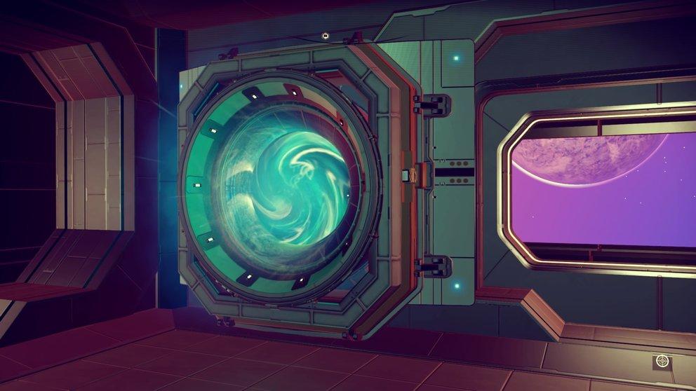 Diese Portale findet ihr auf Raumstationen und eurer Basis. Damit könnt ihr warpen.