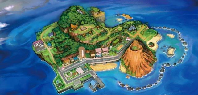 Die Insel Mele-Mele besitzt zwei Städte (Lili'i und Hauholi City. Zudem befinden sich hier die Routen 1, 2 und 3.
