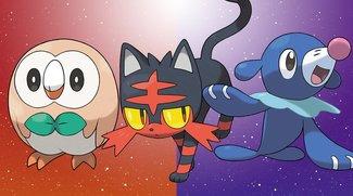 Pokémon Sonne und Mond: Starter-Pokémon - Entwicklungen, Werte und Attacken