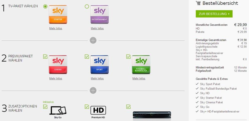 Sky Tv Kosten