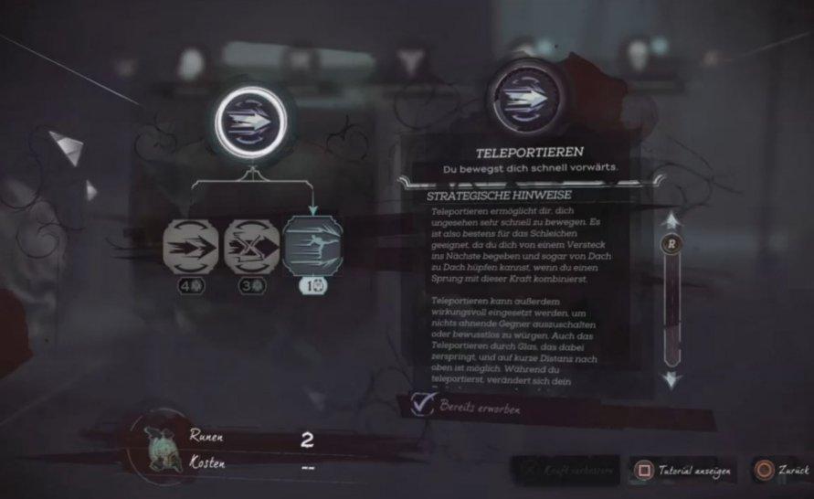 Dishonored 2 Corvo Skills