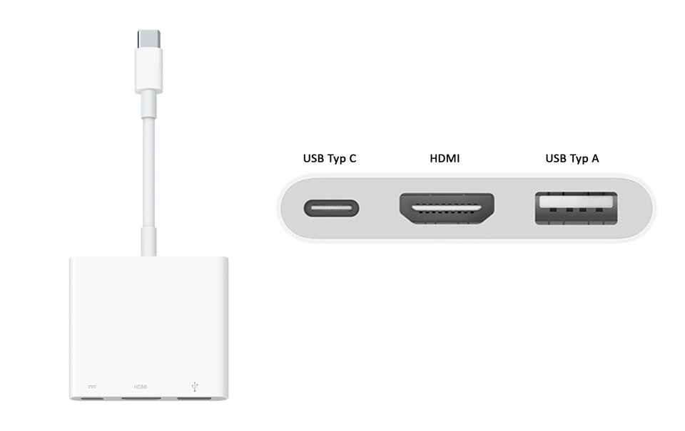 Der USB-C-Digital-AV-Multiport-Adapter.