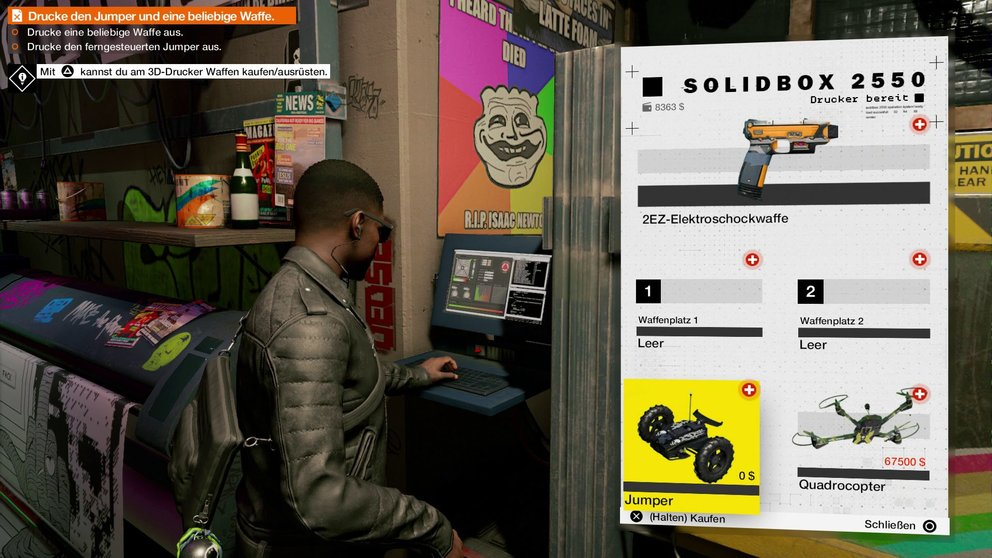 Watch Dogs 2 3D Drucker