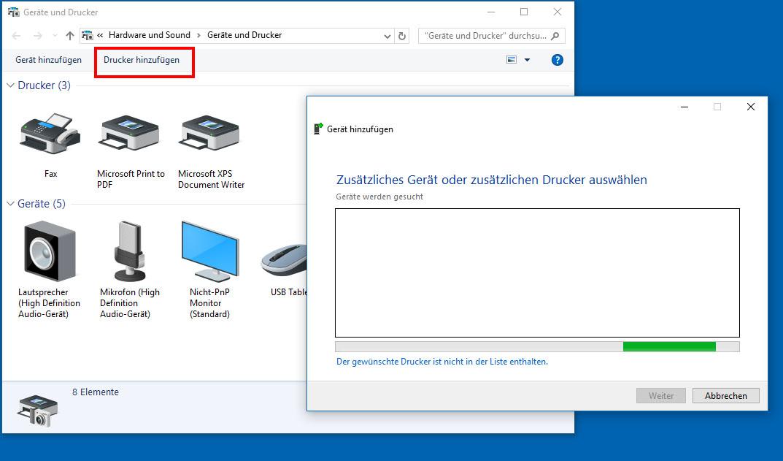 netzwerkdrucker einrichten so geht's windows 10 7 8