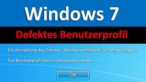 Lösung: Windows 7 Benutzerprofil kann nicht geladen werden