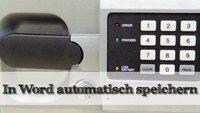 Word Dokument automatisch speichern - Officetipp