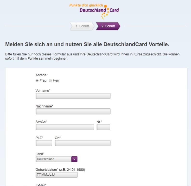 Zweite Deutschlandcard