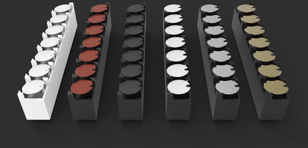 Flip-Disc-System mit verschiedenen Farben (Quelle: Hersteller)