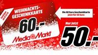 Media Markt verkauft 60-Euro-Geschenkkarten für 50 Euro