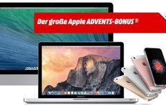Der große Apple Advents-Bonus bei Media Markt: Apple-Produkt kaufen, Gutschein bis zu 150 Euro gratis dazu!