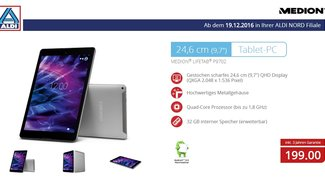 ALDI-Tablet: Medion Life P9702 im iPad-Format ab morgen für 199 Euro erhältlich
