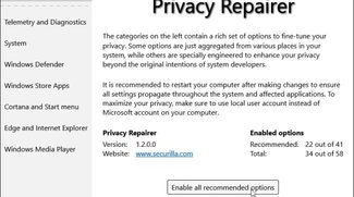Privacy Repairer – Windows 10 Privatsphäre sichern