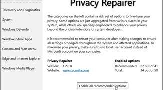 Privacy Repairer – Windows 10 Privatsphäre sichern