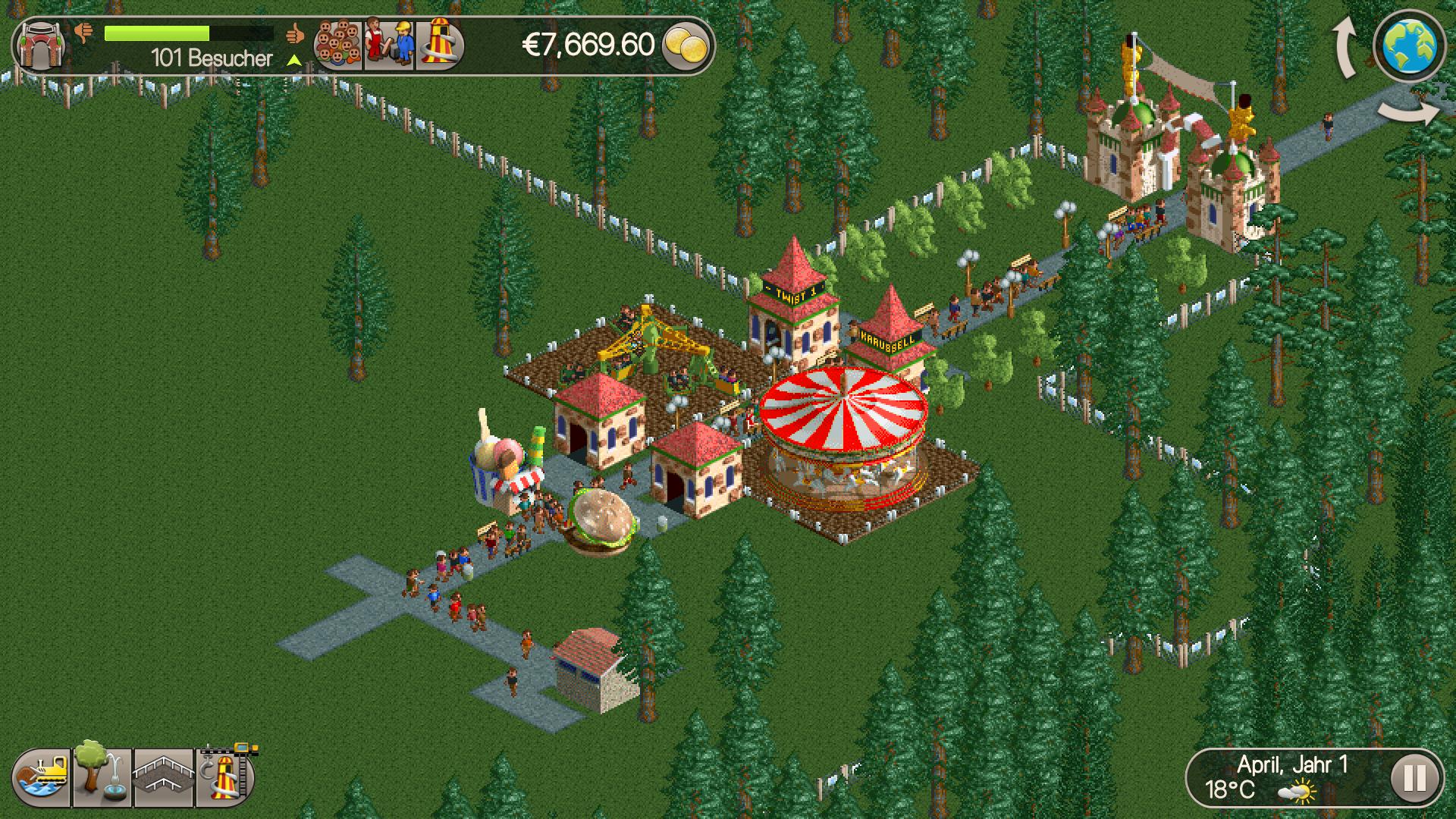 RollerCoaster Tycoon Classic für Android und iOS veröffentlicht