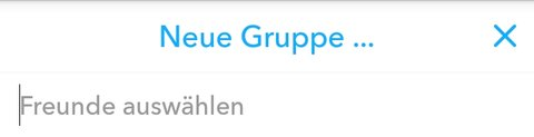 Snapchat Neue Gruppe