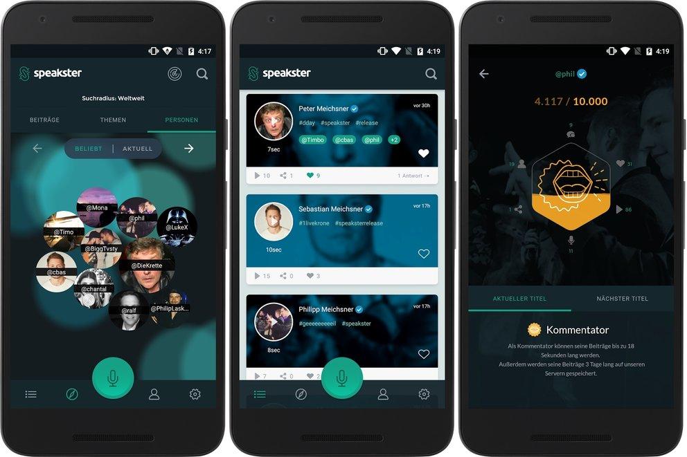 Speakster Sprachnachrichten App Bild