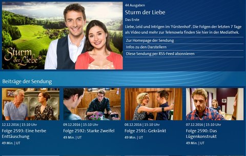 Sturm der Liebe Mediathek