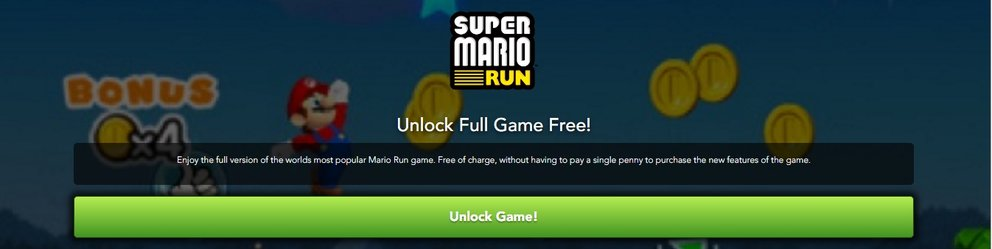 Super Mario Run Android APK Betrug