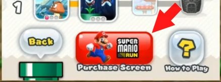 Super Mario Run Purchase Screen