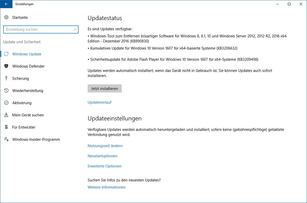 Windows 10 Update KB3206632