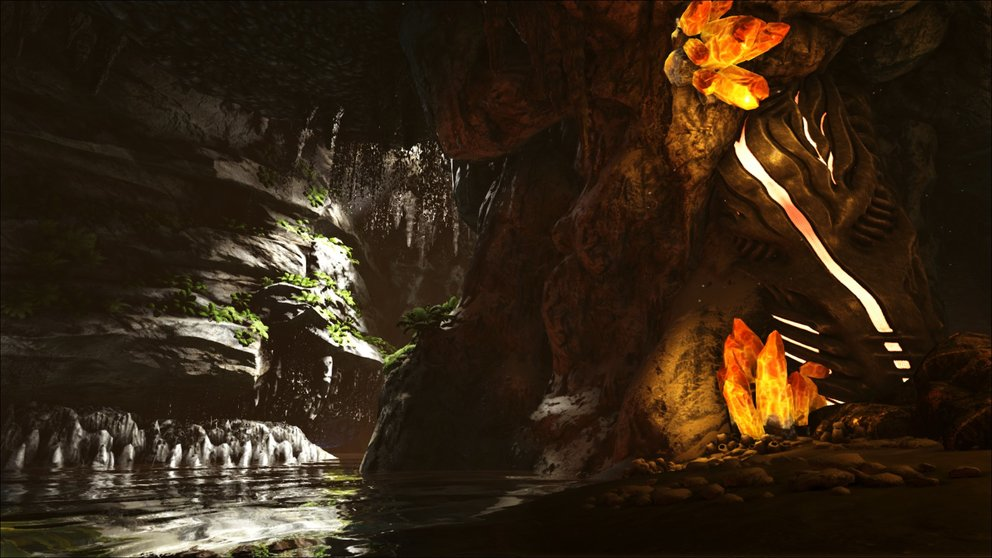 Die Höhle des verlorenen Glaubens liegt unter Wasser. (Quelle: ark.gamepedia.com)