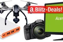 Tolle Blitzangebote:<b> Monitore, Drucker mit AirPrint, DSLRs, DVB-T2 HD, 15000 mAh PowerBank, Drohne</b></b>