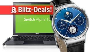 Blitzangebote: Acer-Notebooks, Festplatten, Huawei Watch, 4K HDR Curved TV, Sony Alpha 5100 u.v.m. heute zum Bestpreis