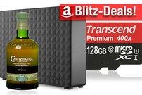 Blitzangebote: Whiskey, 5 TB Festplatte, NAS, 128 GB microSD, Alcatel Smartphone mit VR-Brille u.v.m. heute günstiger
