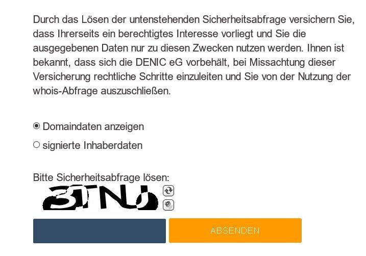deutsche domain registrierung rechnung unter de deutsche. Black Bedroom Furniture Sets. Home Design Ideas