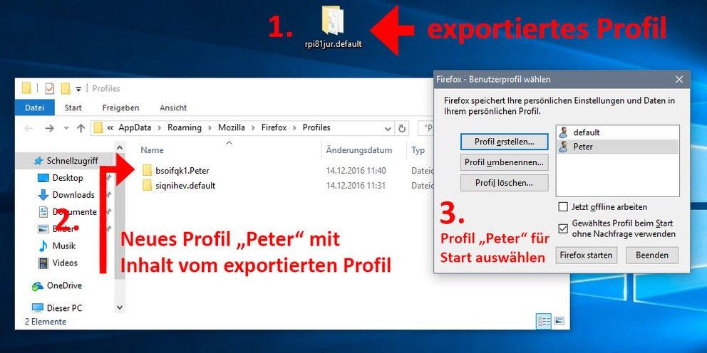 So importiert ihr ein Profil in Firefox.