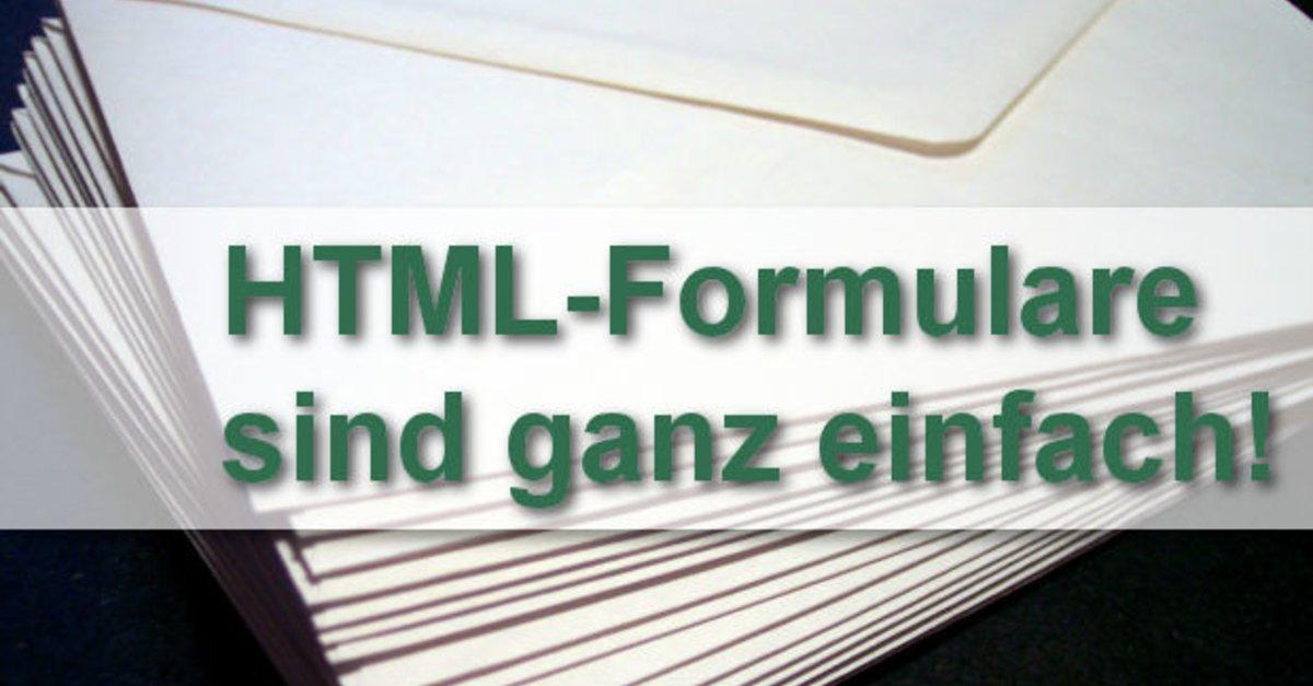 HTML Formular: Ein Kontaktformular in HTML erstellen – GIGA