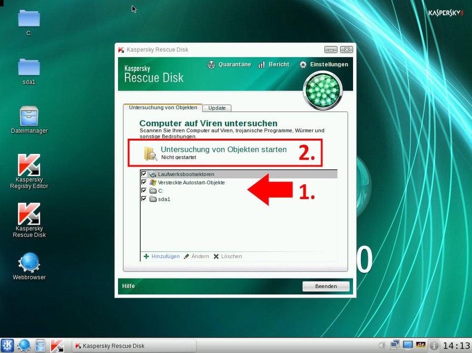 Kapersky Rescue Disk: So startet ihr den Virenscan von Windows.