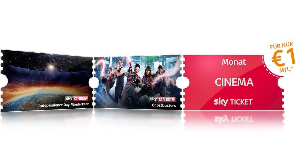 Sky Tickets ab 1 € pro Monat: Entertainment, Cinema & Supersport – monatlich kündbar