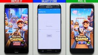 Speed-Check: OnePlus 3T, Google Pixel XL und Galaxy S7 edge im Vergleich
