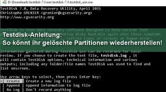 Testdisk-Anleitung: Partitionen wiederherstellen