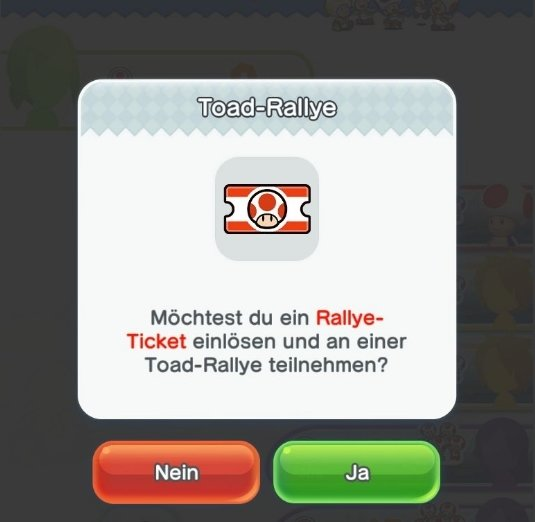 super mario run rallye ticket