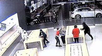 Nur knapp über 10 Sekunden: Video zeigt zwei Turbo-Überfälle auf Apple Store