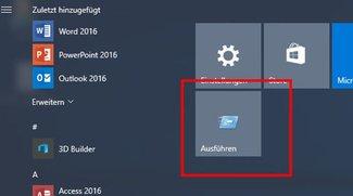 Windows 10 & 7: Ausführen-Befehl im Startmenü anzeigen – so geht's