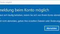 Lösung: Windows 10 – Keine Anmeldung beim Konto möglich