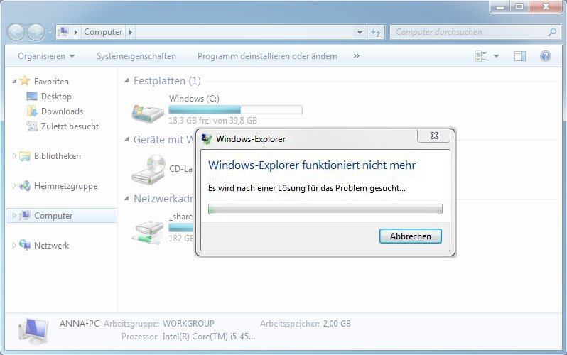 Windows Explorer Stürzt Ab
